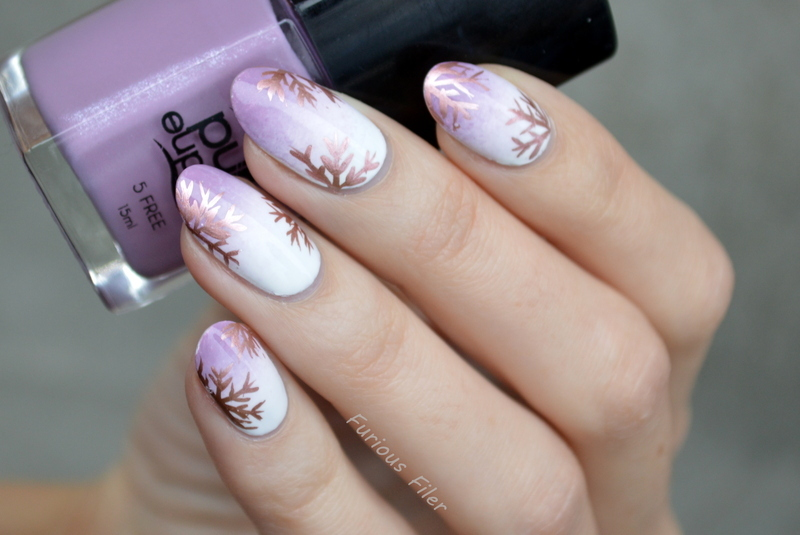 Metallic Wonderland nail art by Furious Filer
