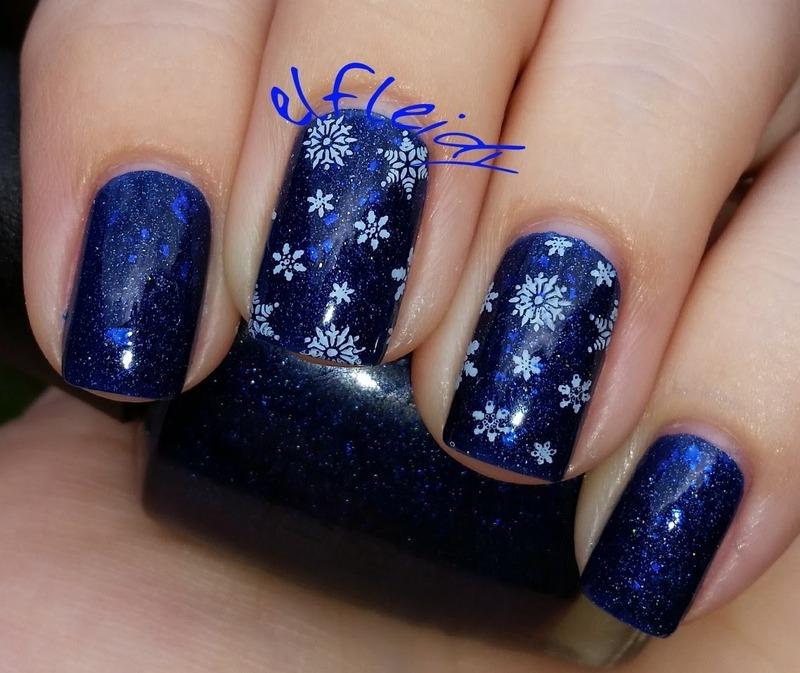 40 Great Nail Art Ideas- Glitter or Flakie Topper nail art by Jenette Maitland-Tomblin