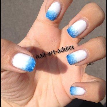 Nail Art : French Dégradée nail art by SowNails