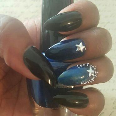 Galaxy Of Stars  nail art by MrZxLittleton