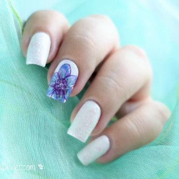 Winter Flower nail art by Natasha