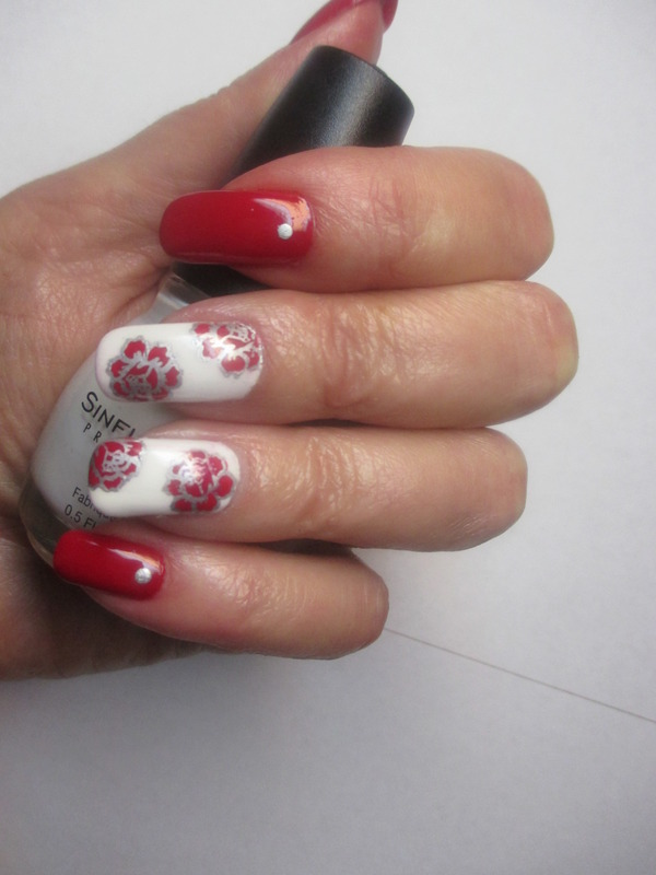 Snow Me nail art by NinaB