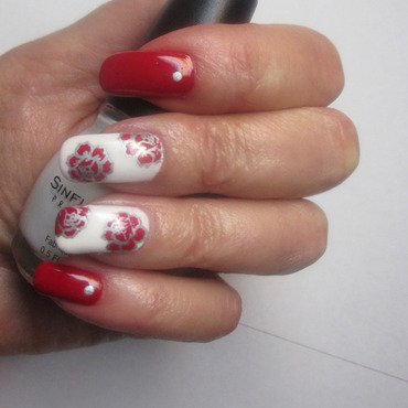Snow Me nail art by NinaB