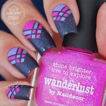 Geometric Nail Art nail art by xNailsByMiri