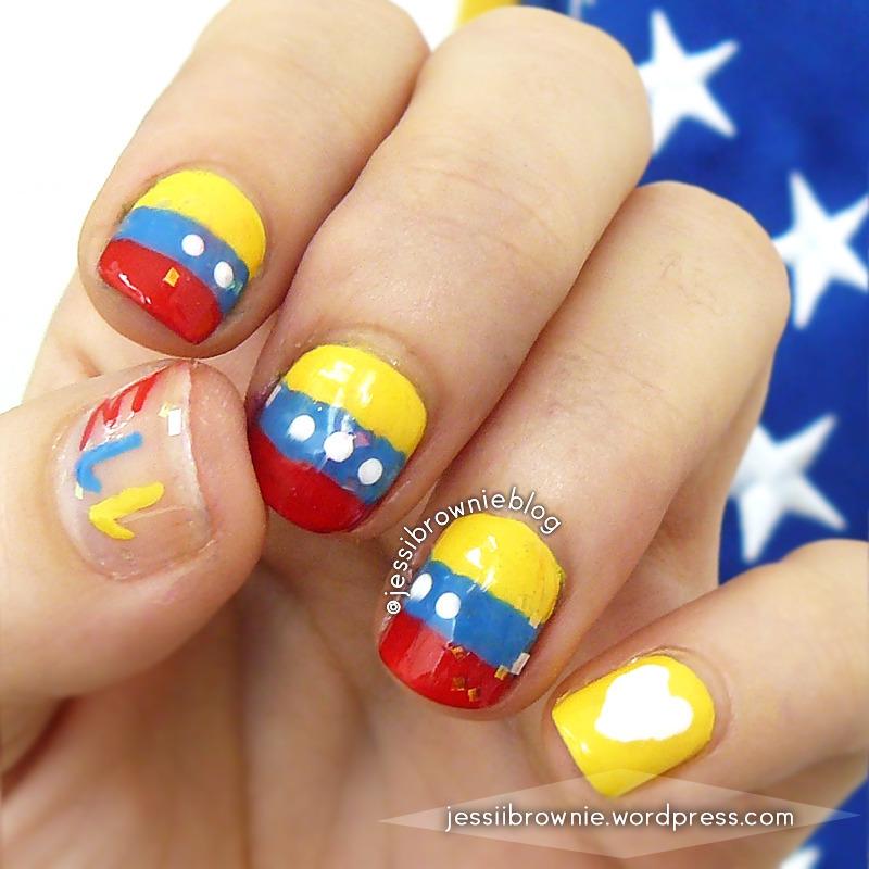 Venezuela Hacia Adelante nail art by Jessi Brownie (Jessi)
