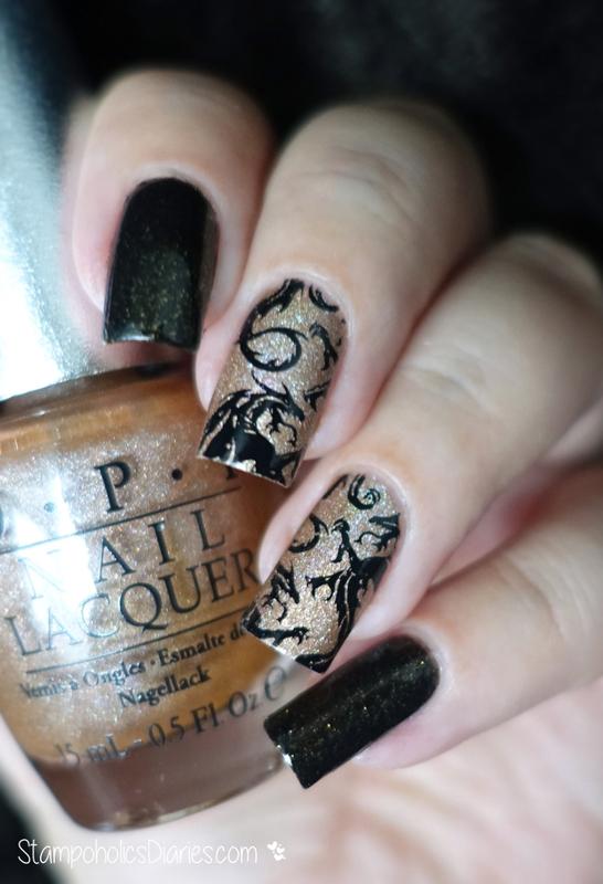Dragon Nails nail art by Natasha