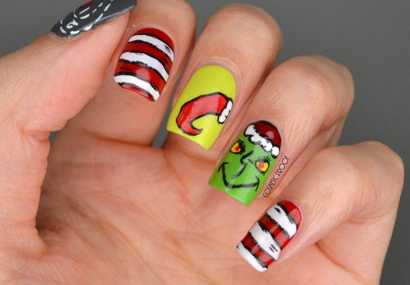The Grinch Christmas Nails  nail art by Jayne