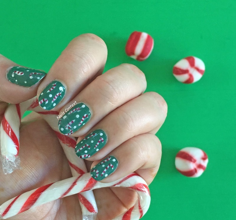 Candy Canes  nail art by NailsContext