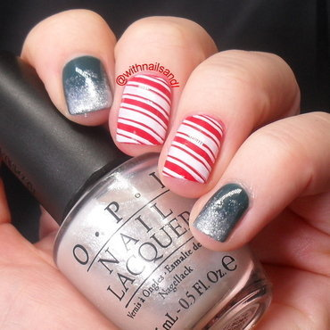 Christmas Candy and Frosting nail art by WithnailsandI