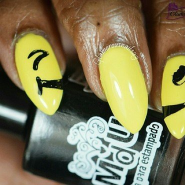 Put A Smile On nail art by glamorousnails23