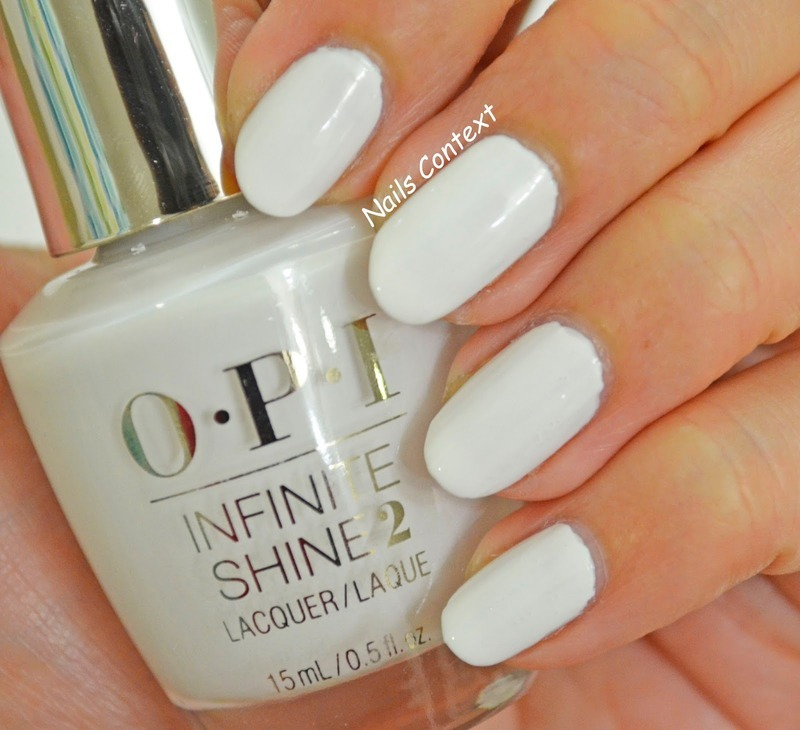 OPI Infinite Shine Non-Stop White Swatch by NailsContext