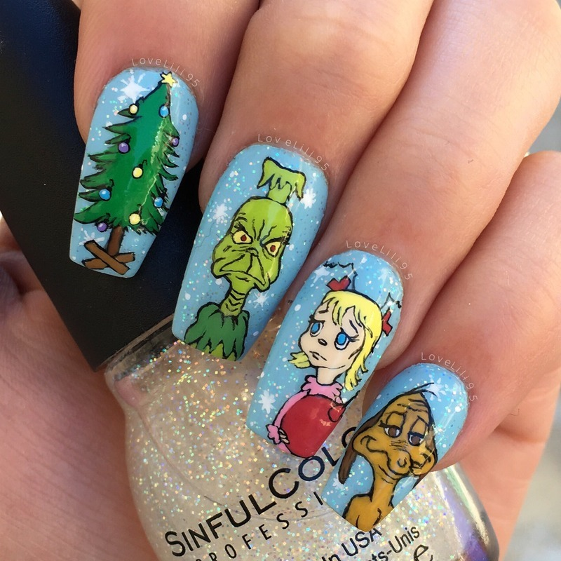 How The Grinch Stole Christmas Nail Art By Iliana Chavez Nailpolis