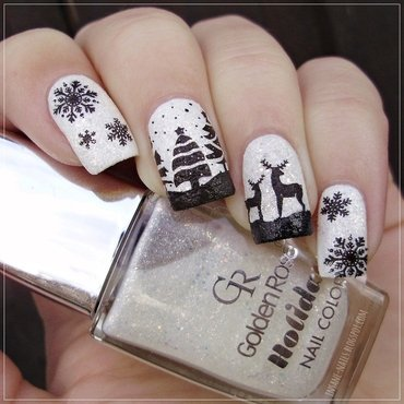 Winter Wonderland nail art by Sanela