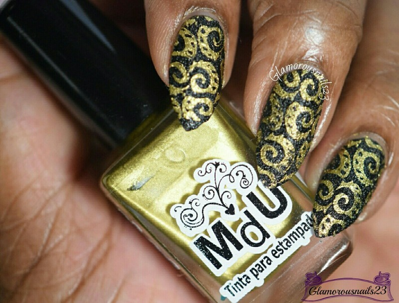 Textured Stamping nail art by glamorousnails23