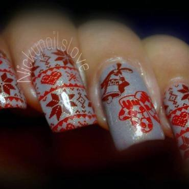 Christmas nail art by Nicky