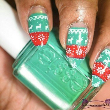 WNAC December 2015: Christmas Sweater nail art by glamorousnails23