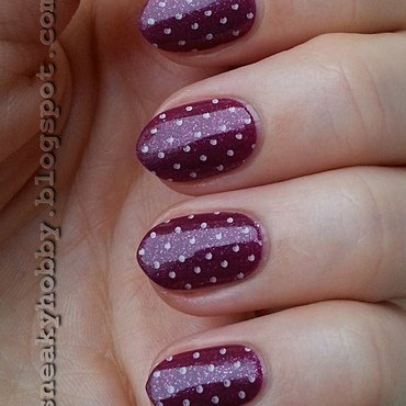 Adorable Pink Dots! nail art by Mgielka M