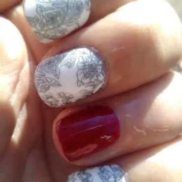 Winter Roses nail art by Sunny