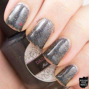 Daily hues nail lacquer kristi black microglitter swatch 3 thumb370f
