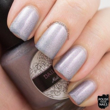 Daily hues nail lacquer willow purple holo swatch 3 thumb370f