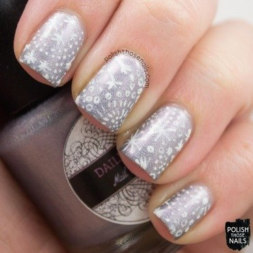 Daily hues nail lacquer willow purple holo nail art 3 thumb370f