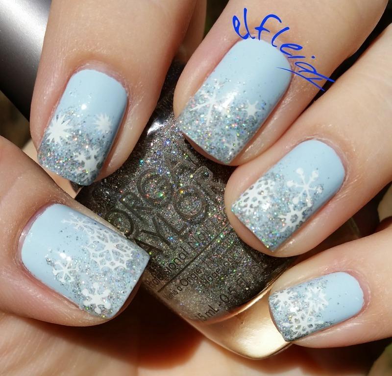 40 Great Nail Art Ideas- Winter nail art by Jenette Maitland-Tomblin