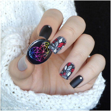Fall winter nail design nail art by barbrafeszyn