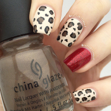 Leopard Print nail art by PolishIsSweet