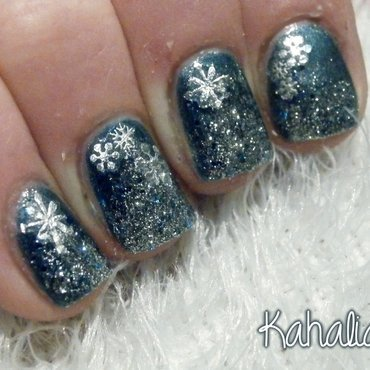 Winter nail art nail art by Kahaliah