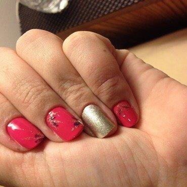 Some gold nail art by Elyana
