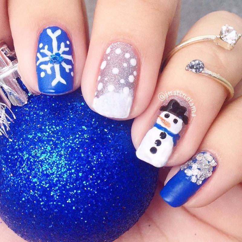 Frosty The Snowman Nail Art By Ustine Nailpolis Museum Of Nail Art