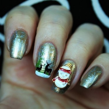 Winter wonderland nail art by Jane