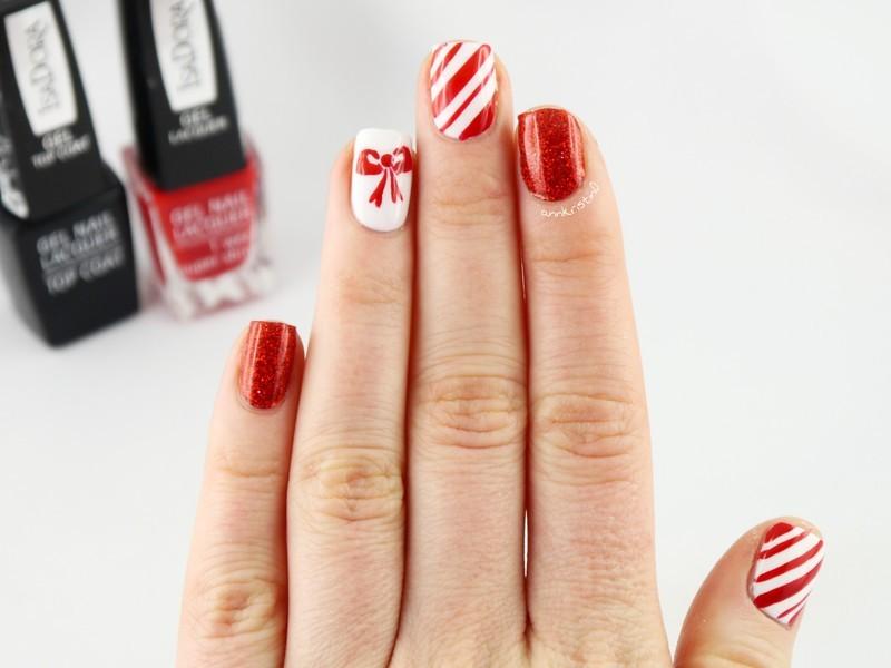 Little Red Bow 2 nail art by Ann-Kristin