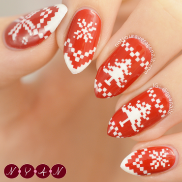 Warm Wishes 2015 nail art by Becca (nyanails)
