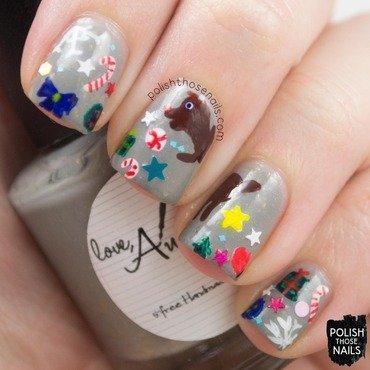 Reindeer Puke nail art by Marisa  Cavanaugh