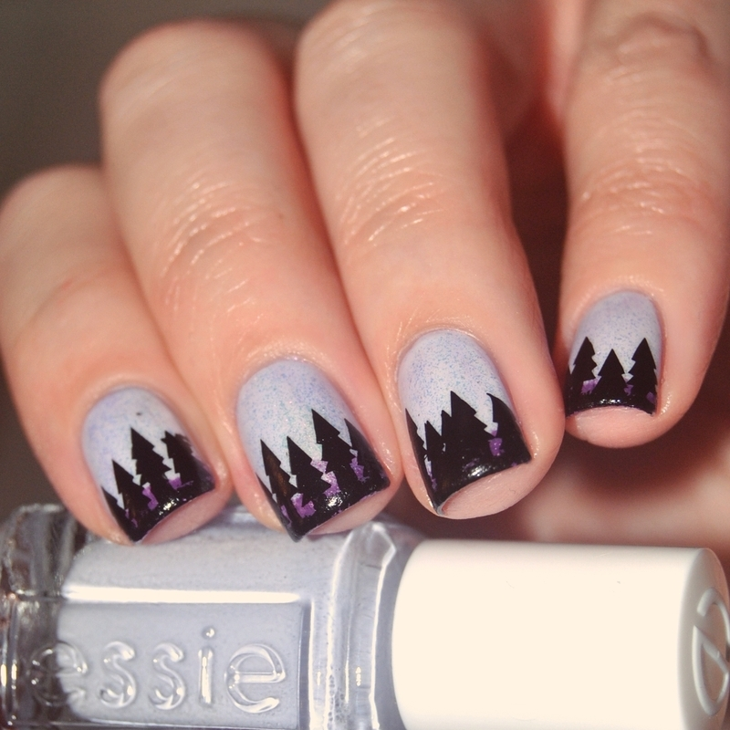 Winter Wonderland nail art by Lackopfer