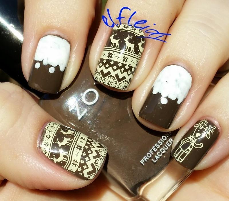 30DoCC 12-08-2015 Hot chocolate nail art by Jenette Maitland-Tomblin