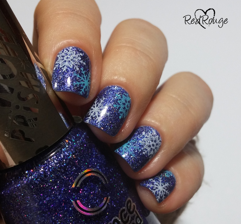 Snowflakes part 1 nail art by RedRouge