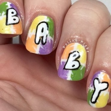 Baby Announcement Nails nail art by Crystal Bond