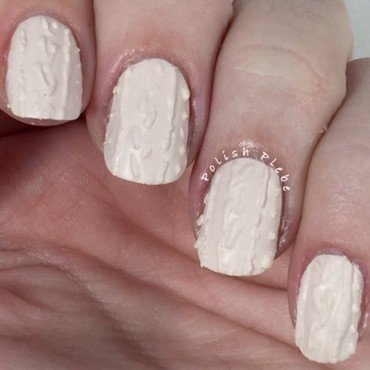3D Cable Knit nail art by Crystal Bond