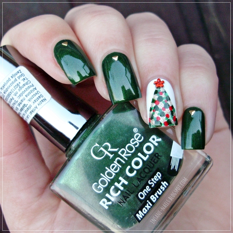 christmas colors nail art by sanela