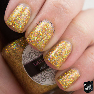 Daily hues nail lacquer gold glitter holo noelle swatch 3 thumb370f