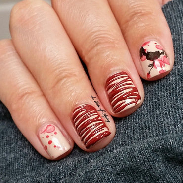 Bat's Blood Sugar-Spin nail art by Monica