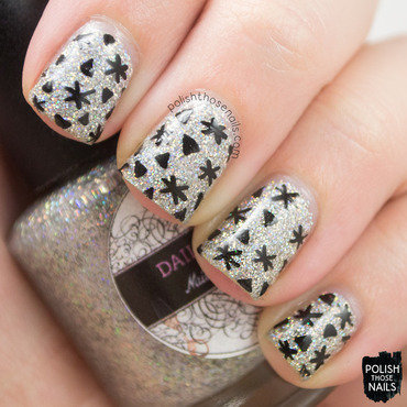Glitzy Shapes nail art by Marisa  Cavanaugh