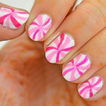Candy Swirls  nail art by NailsContext