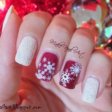 Stamping 20snowflakes 20christmas 20winter 20nail 20art 20design thumb370f