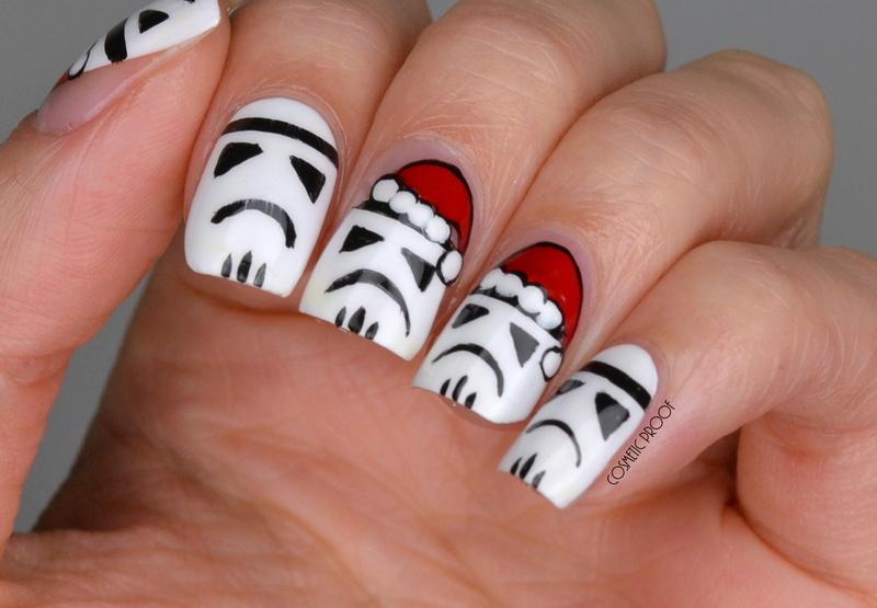 Seasonal Star Wars Stormtroopers nail art by Jayne