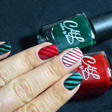 Christmas Candy Can  nail art by Sweapee