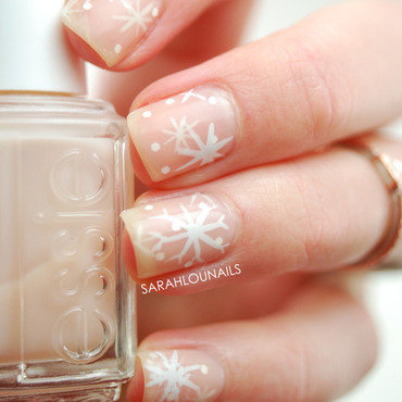 Snowflake Nails! nail art by Sarah S