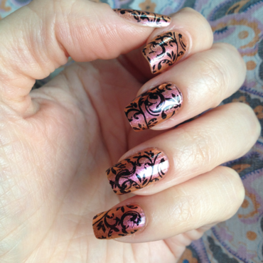Silk Scarf nail art by Rox